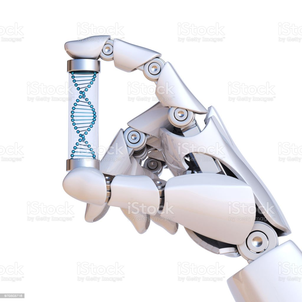 Robotic Hand Holding Dna Sample Artificial Intelligence
