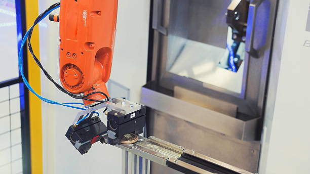 robotic hand machine tool at industrial manufacture factory - depositor stock pictures, royalty-free photos & images