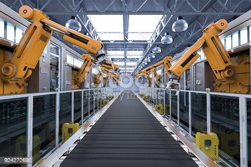 istock robotic machines with conveyor 924272692
