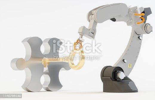 Robotic Manipulators Concepts. The key opens the puzzle