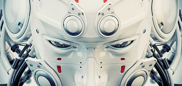 Robotic mask stock photo