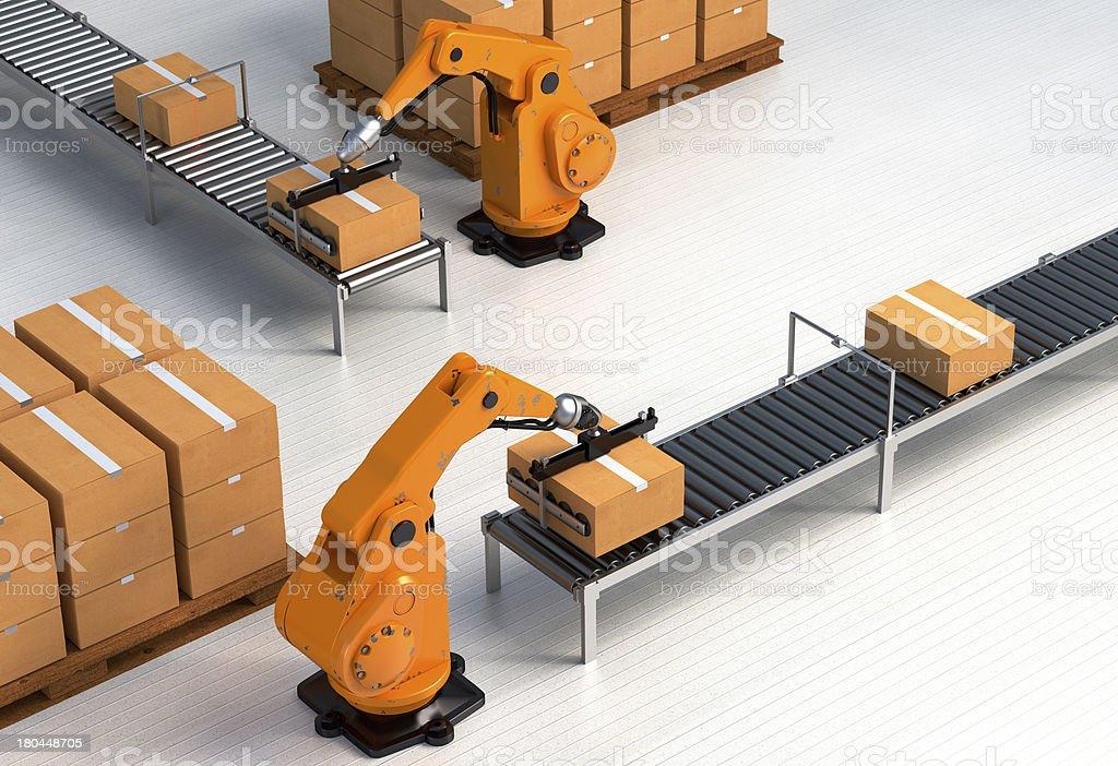 Robotic Palletising II stock photo