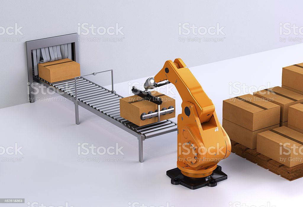 Robotic Palletising III stock photo