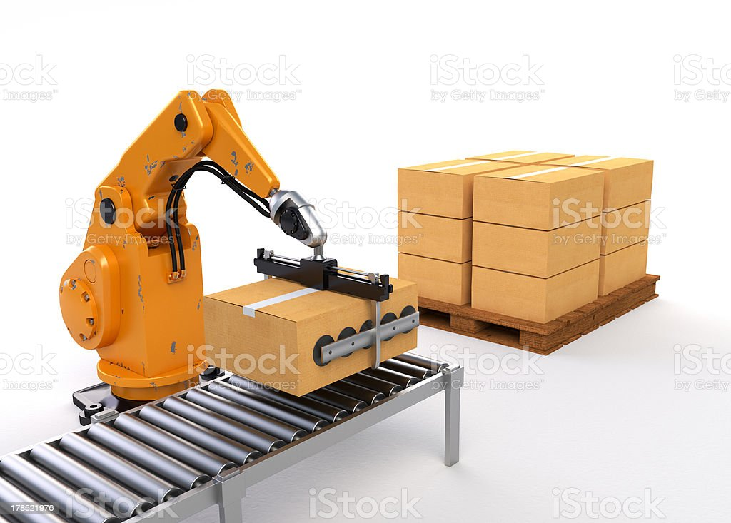 Robotic Palletising royalty-free stock photo