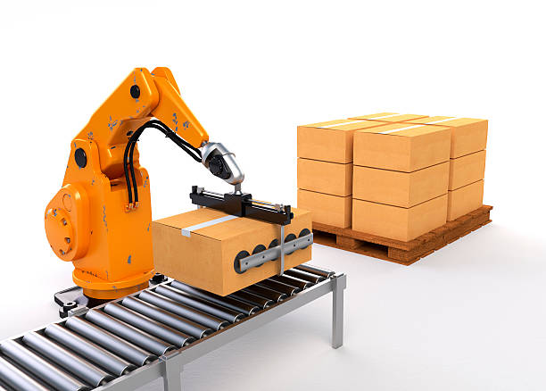 Robotic Palletising stock photo