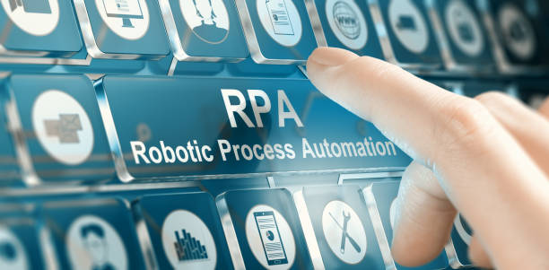 RPA, Robotic Process Automation Concept stock photo