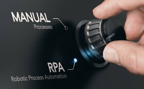 RPA, Robotic Process Automation. stock photo