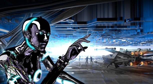 Robotik-Raumschiff Hangar – Foto