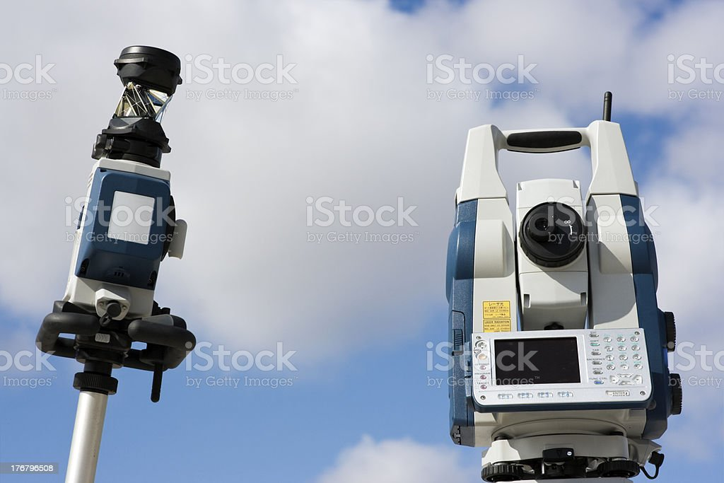 Robotic Station set in the field royalty-free stock photo
