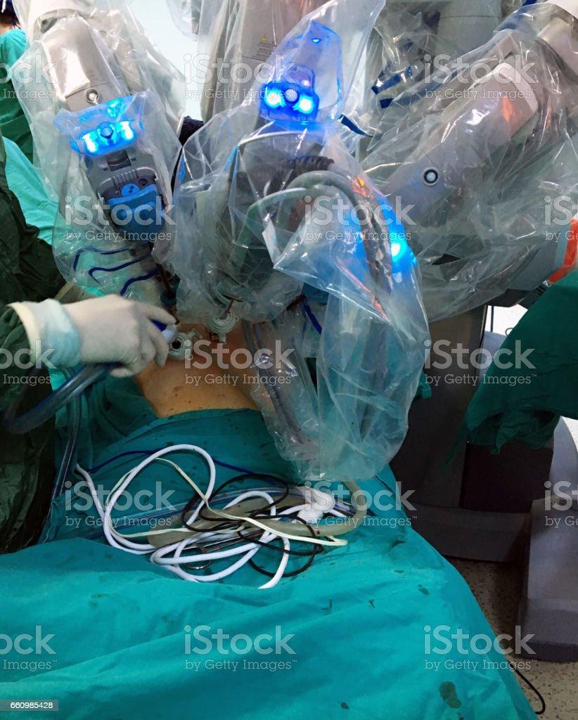 robotic surgery stock photo