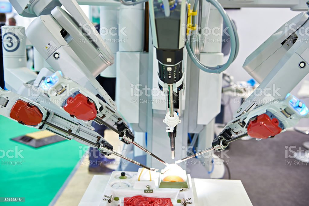 Robotic surgical system stock photo
