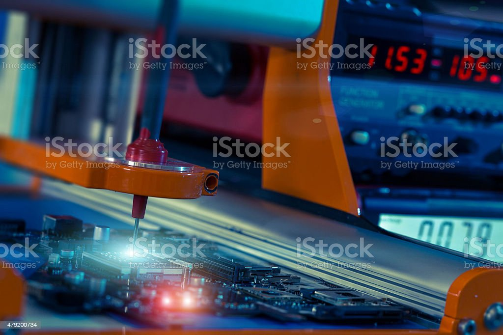 robotic system for automatic checking stock photo