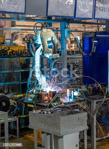 160554760istockphoto Robotic welding on industrial products 1201202985