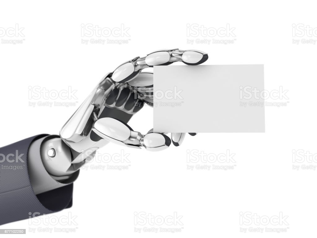 Robotics Arm Gives A Empty Business Card Artificial Intelligence