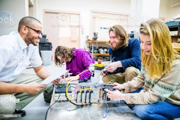 Robotics engineering students working on their new project picture id1066660974?b=1&k=6&m=1066660974&s=612x612&h=qmkrpnkqpo7fk6fsrqggtpmu4whfk 2oohogcrvhyyc=