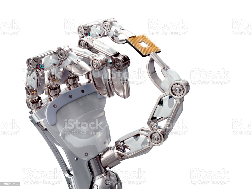Roboticx processor stock photo