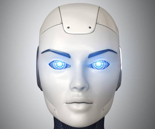Robot's beauty stock photo