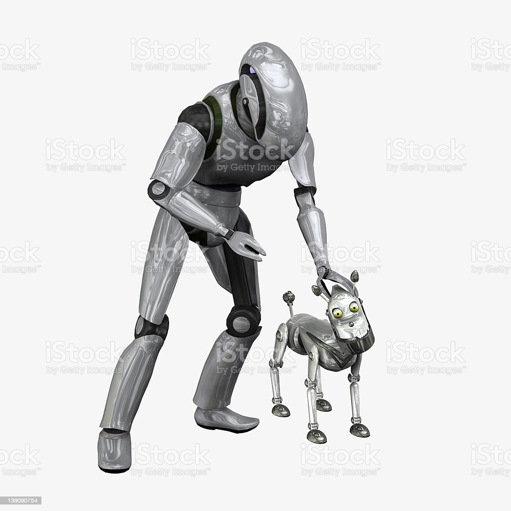 Robot's Best Friend royalty-free stock photo