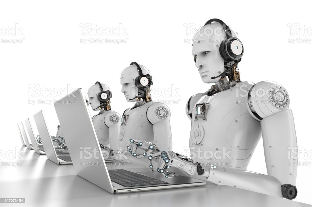 Roboter-Call-center – Foto