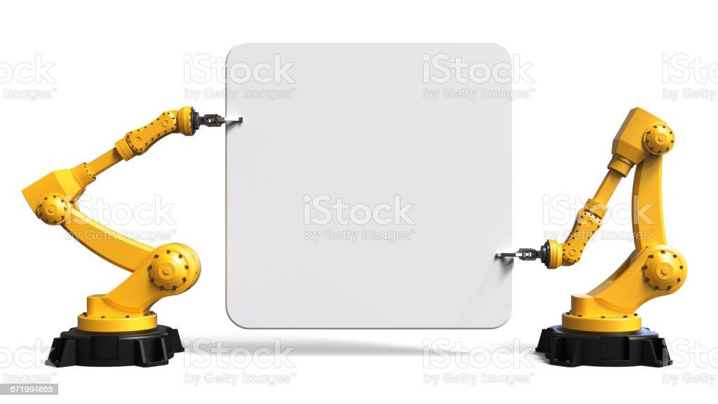 Roboter mit einem Brett – Foto