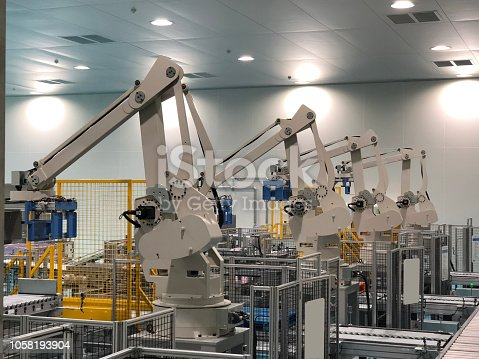 846859964 istock photo robots in a car factory 1058193904