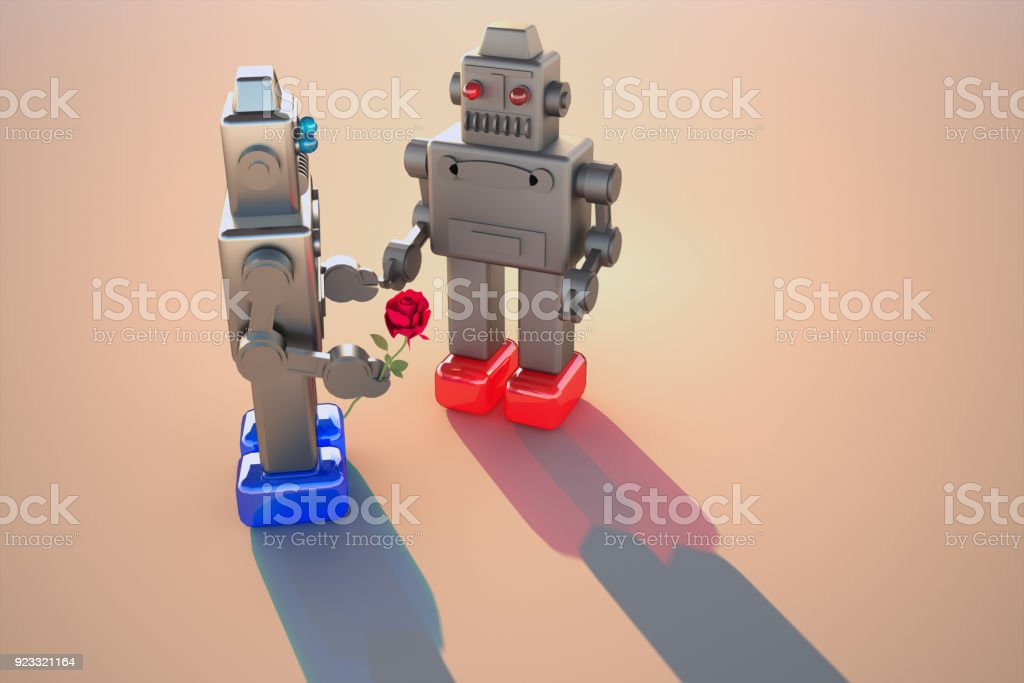 Robots love stock photo