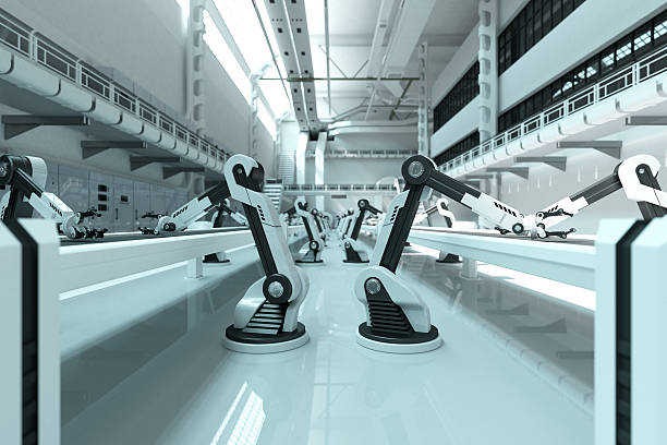 robots - robotics manufacturing stock photos and pictures