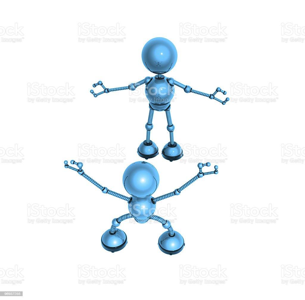 robots royalty-free stock photo