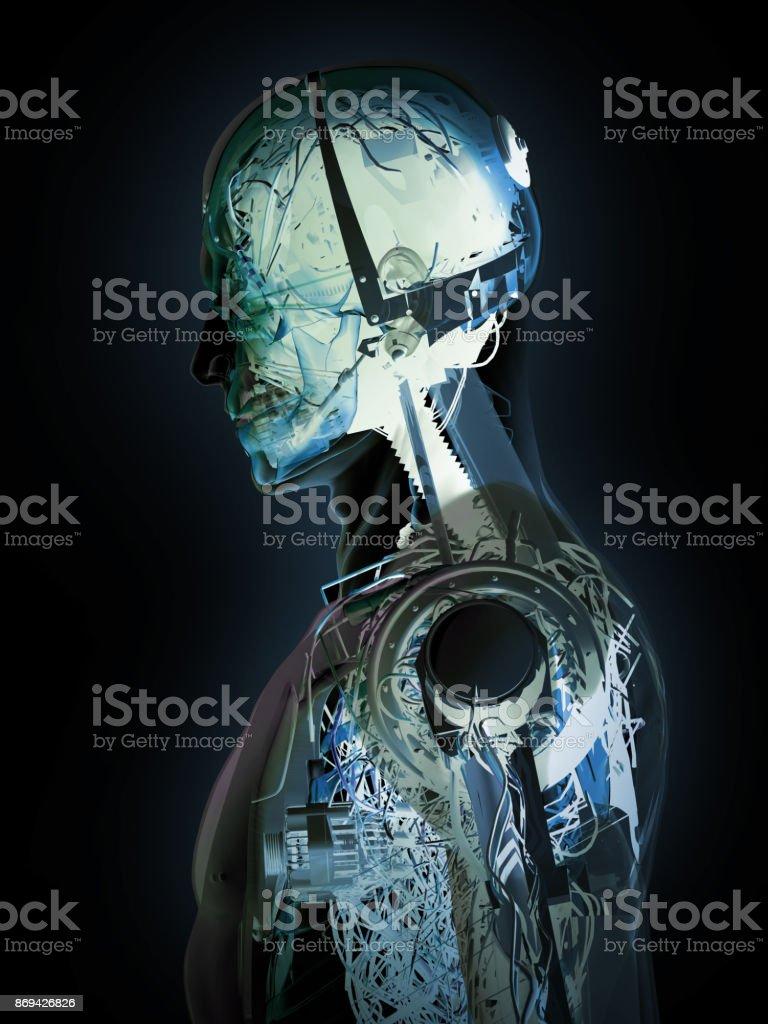 Robot's Rontgen - foto stock