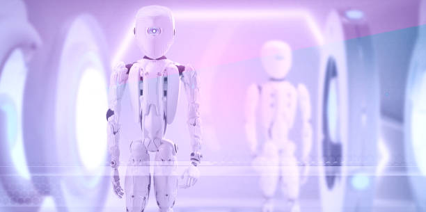 Roboter-Technologie Humanoide 3D-Illustration – Foto