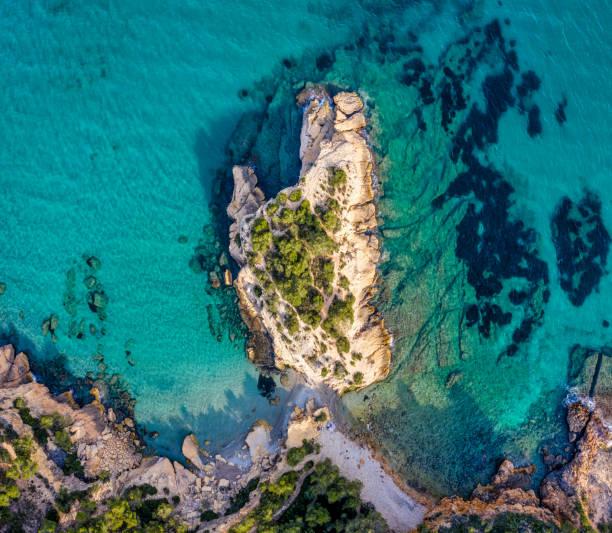Roca de l'illot in L'Ametlla de Mar, Costa Dorada, Catalonia, Spain stock photo