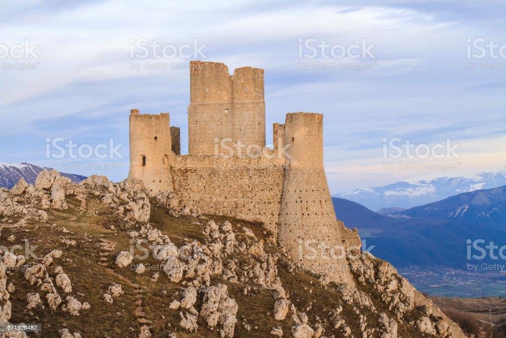 Rocca Calascio in Italy stock photo