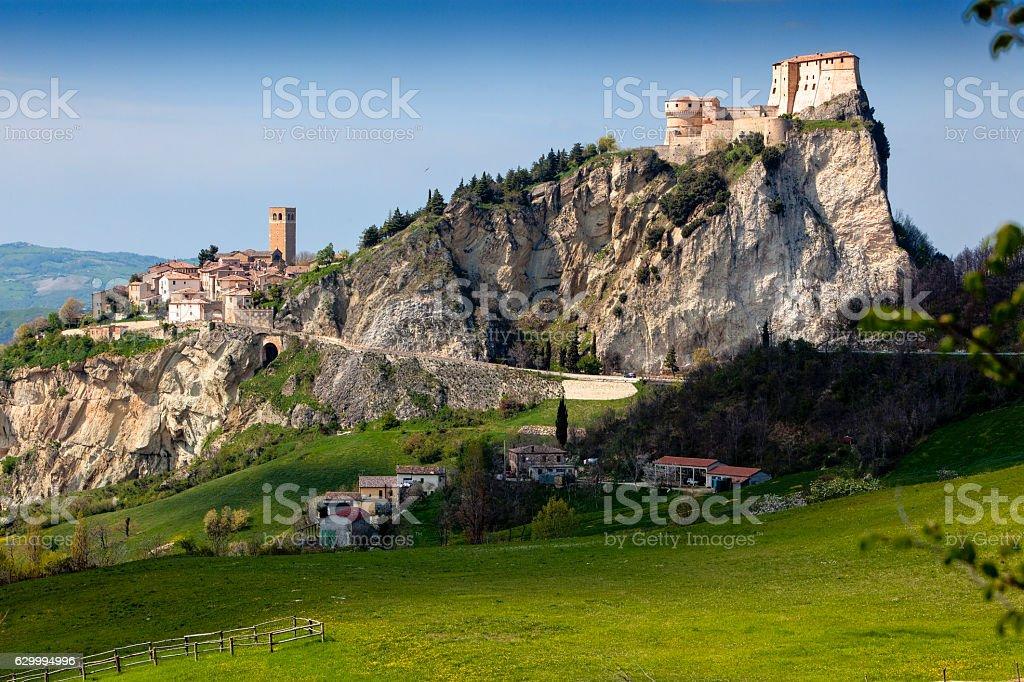 Rocca di San Leo stock photo