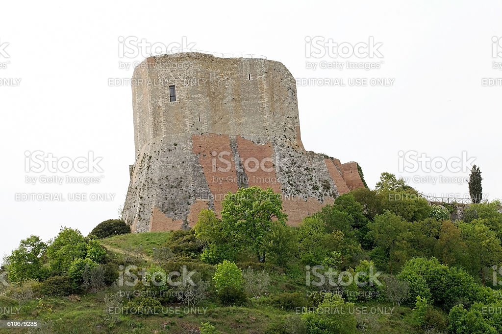 Rocca of Tintinnano, Tuscany, Italy stock photo