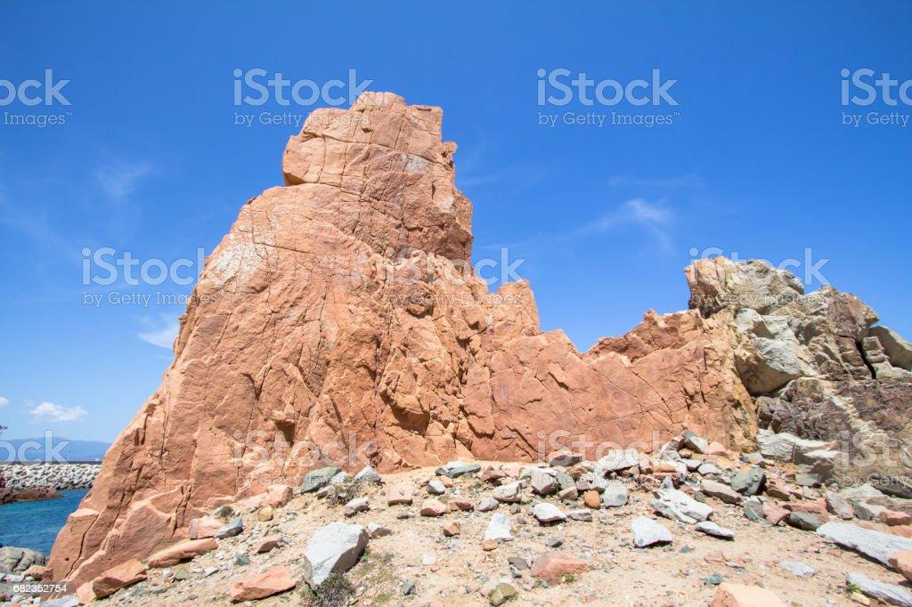 Rocca Rossa on Sardinia Island, Italia royalty-free stock photo