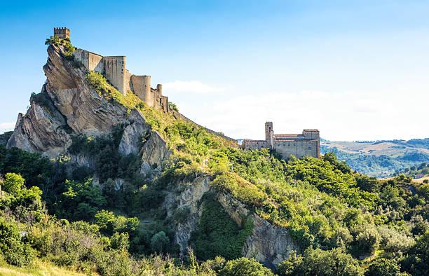 Roccascalegna castle in der Provinz Chieti, Abruzzen Italien – Foto