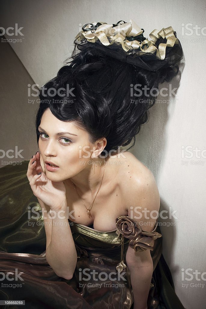 Rocco style girl royalty-free stock photo