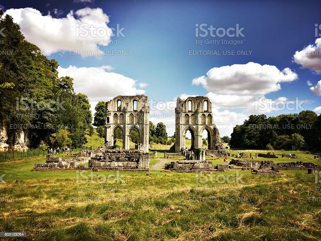 Roche Abbey ruins, Yorkshire, UK stock photo