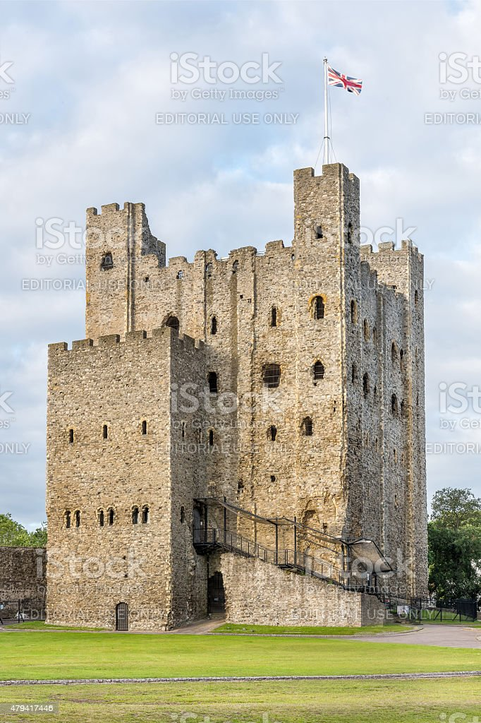 Rochester castle in Kent, England stock photo