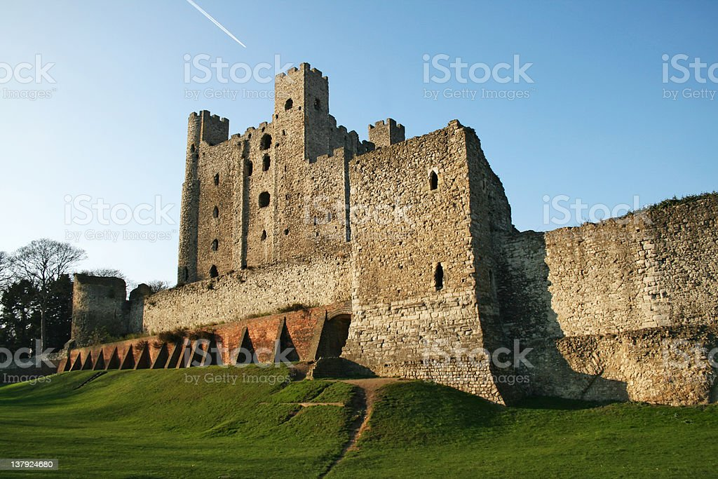 Rochester Castle in Kent, South England stock photo