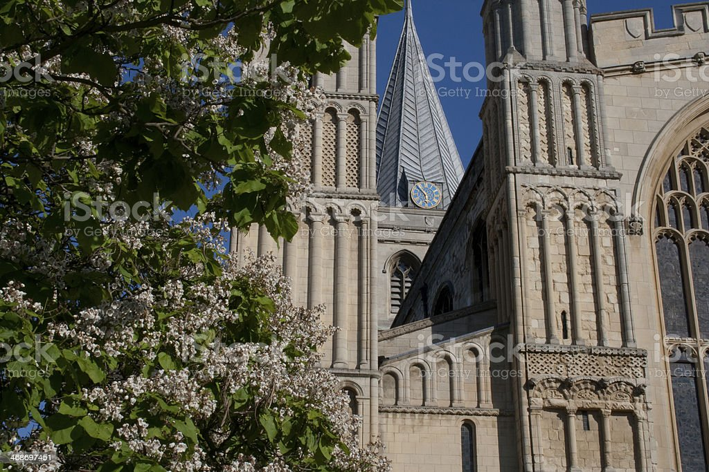 Rochester Cathedral in Kent England royalty-free stock photo