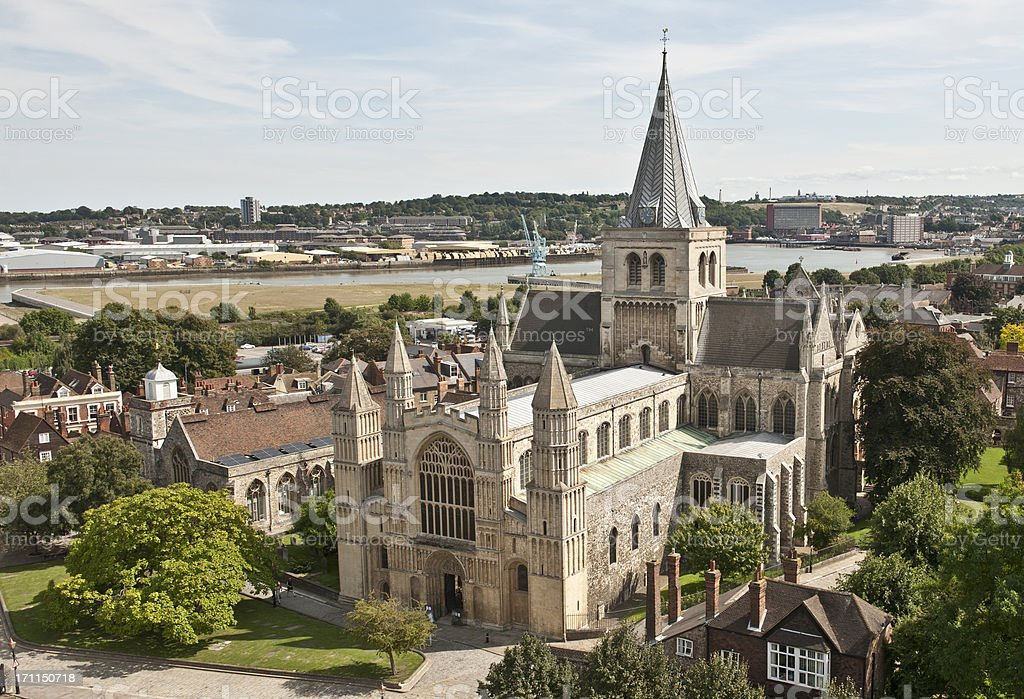 Rochester Cathedral royalty-free stock photo