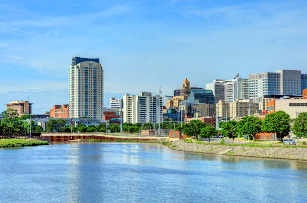 Rochester, Minnesota Waterfront stock photo