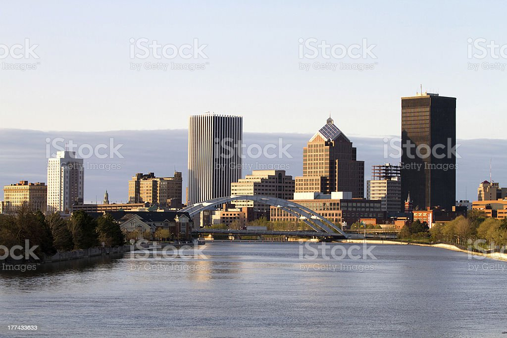 Rochester New York Skyline royalty-free stock photo