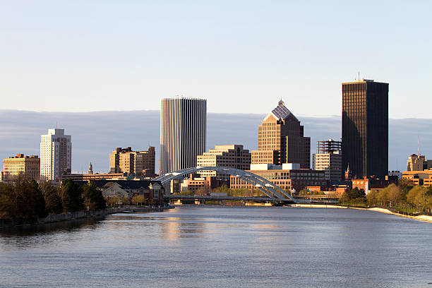 rochester new york skyline - rochester ny skyline stock photos and pictures