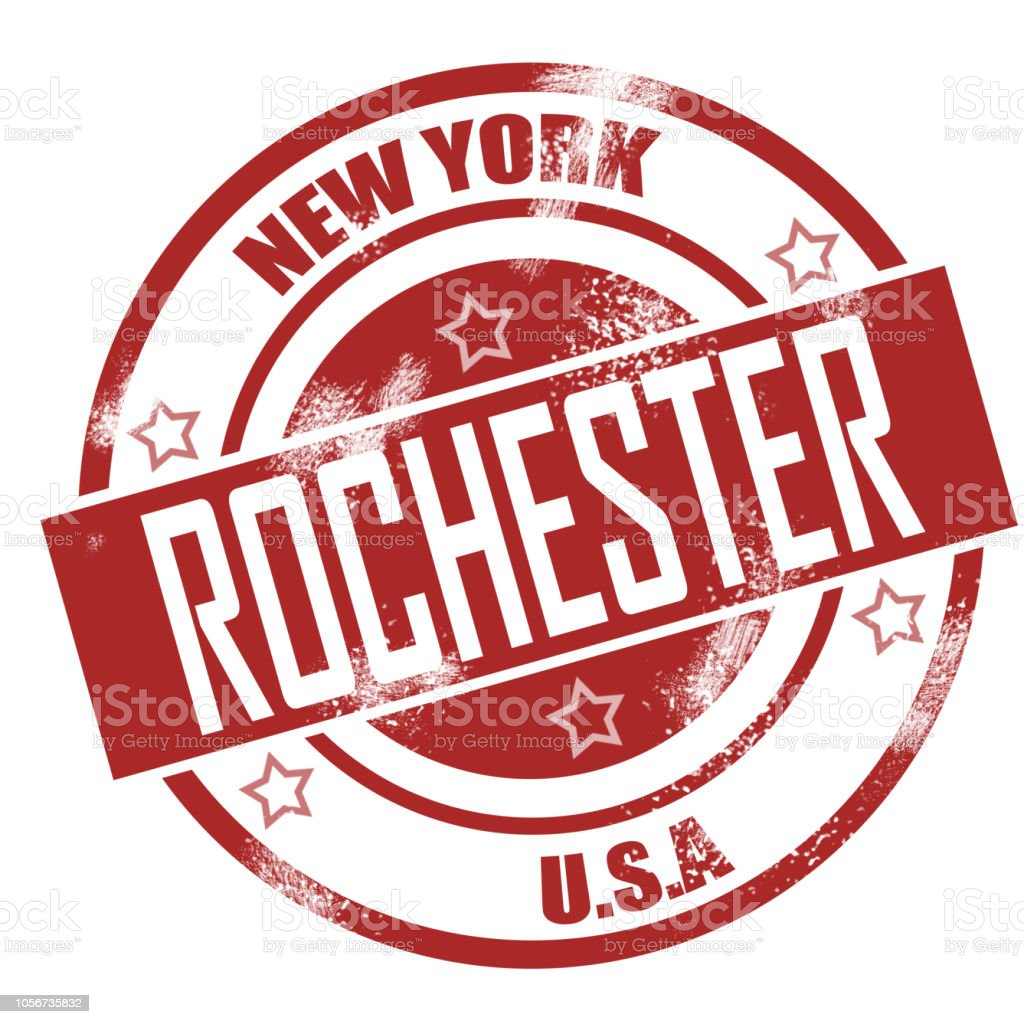 Rochester stamp stock photo