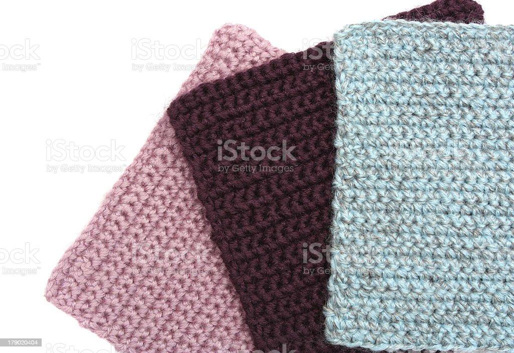 Сrochet squares royalty-free stock photo