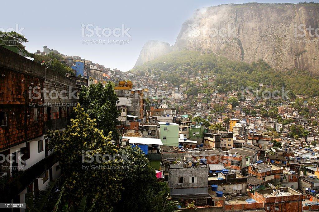 Rocinha favela stock photo