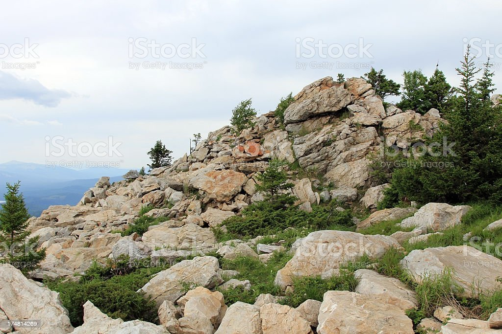 Rock against sky royalty-free stock photo