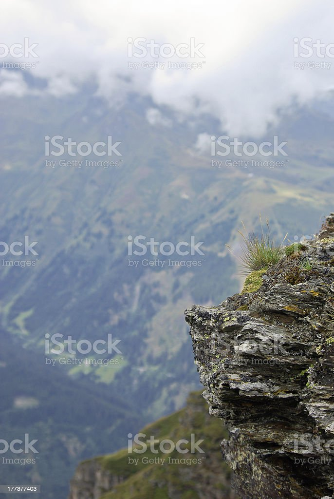Rock and mountains stock photo